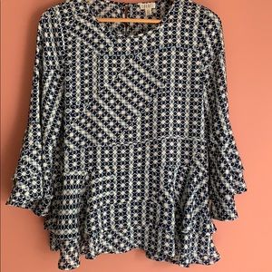 Spense Long Sleeves Printed Tops S/P